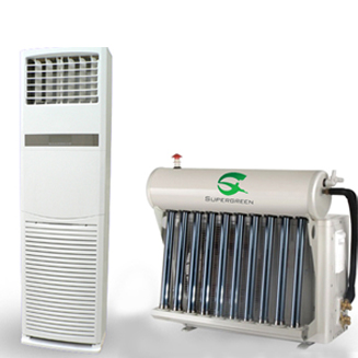 Floor stand Type Hybrid Solar thermal Air Conditioner with Vacuum Tubes Saving 30%-50%