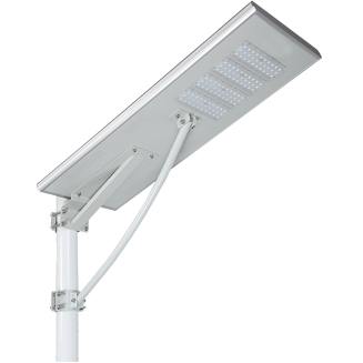 All in one solar integrated street light with high quality  LiFe P04 lithium battery