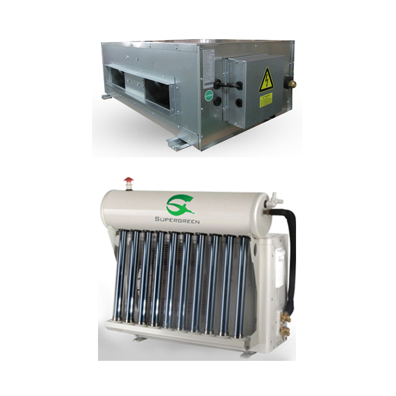 Ducted Type Hybrid Solar thermal Air Conditioner with Vacuum Tubes Saving 30%-50%